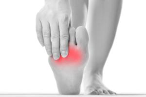 Voorbeeldschets pijnlijke voet Podotherapie Couteaux